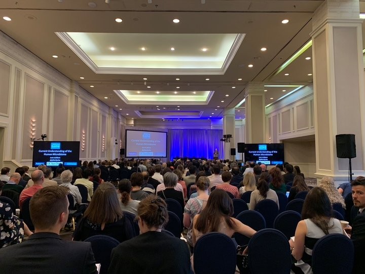Packed house during keynote lecture